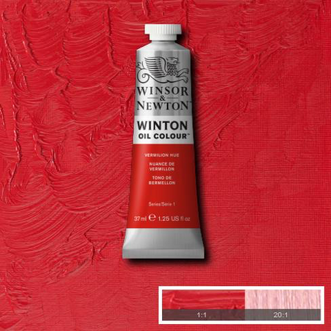 Vermilion Hue is a bright orange red colour. The genuine pigment was made from toxic mercuric sulphide and was known to the ancient Greeks and Chinese. It is an opaque colour.