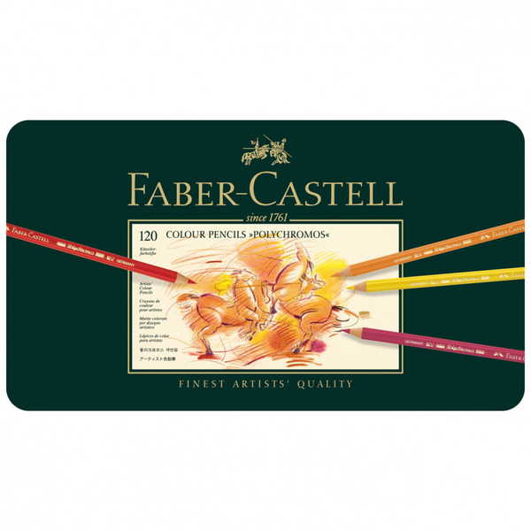 FABER CASTELL Polychromos Artists Pencils tin of 120