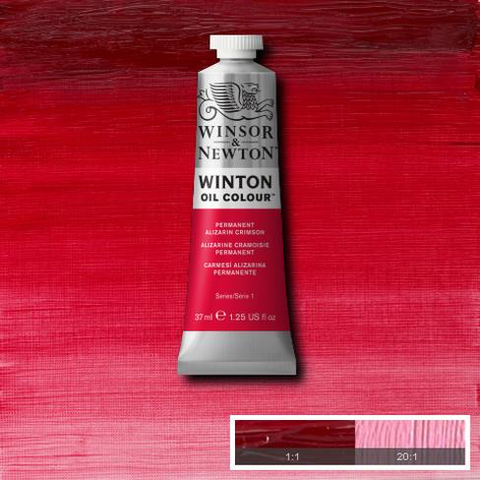 Highly transparent with a blue undertone, Permanent Alizarin Crimson is a vivid red colour. Introduced in 1994, it has been formulatedas a highly permanent red pigment.