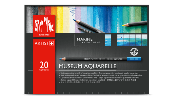 Caran d'Ache Museum Aquarelle Marina assortment of 20 colours
