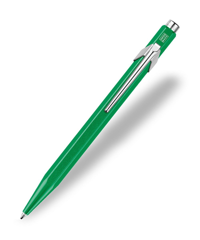 Caran d'Ache : Pop Line : Ballpoint pen and holder : Green Metal X