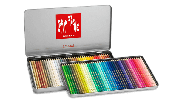 Caran d'Ache Pablo 80 Colour assortment, providing quality and accuracy : artists, illustrators, designers, teachers and creative peopleCaran d'Ache Pablo 80 Colour assortment