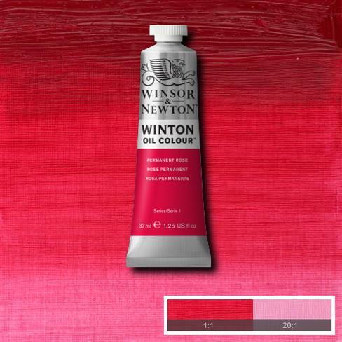 Permanent Rose is a bright rose violet colour. It is a transparent quinacridone pigment and was introduced in the Winsor & Newton range in the 1950s.