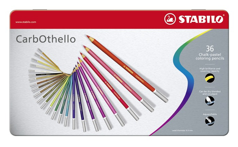 STABILO CarbOthello chalk-pastel coloured pencil metal box of 36 colours