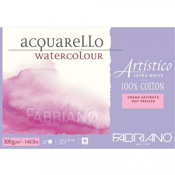 Fabriano Artistico acquareLLo Watercolour paper 100 % Cotton Extra White 300 gsm : 5 x 7
