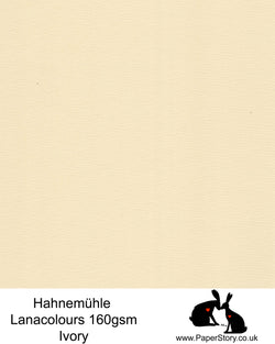 Hahnemühle Lana Colours Ivory pastel hammered paper 160 gsm. Artist Premium Pastel  and Papercutting Papers 160 gsm often described as hammered paper. This high quality artist paper, can be used for papercutting as well as mixed media,