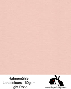 Hahnemühle Lana Colours pastel Light Rose, soft pink hammered paper 160 gsm. Artist Premium Pastel and Papercutting Papers 160 gsm often described as hammered paper.