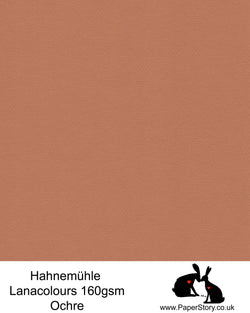 Hahnemühle Lana Colours pastel Ochre, deep brown hammered paper 160 gsm, beautiful warm brown. Artist Premium Pastel and Papercutting Papers 160 gsm often described as hammered paper