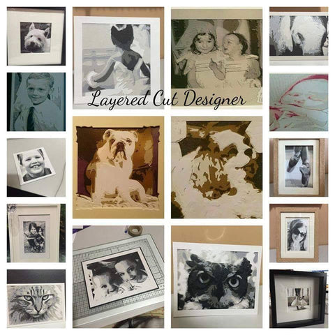 Layered Cut Designer Software  : Create Layered Paper cuts with Bramble Craft Software