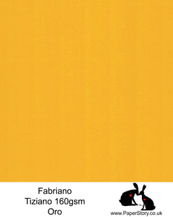 High quality paper from Italy, Oro orange gold Fabriano Tiziano is 160 gsm, Tiziano has a high cotton content, a textured naturally sized surface. This paper is acid free to guarantee long permanence in time, pH neutral. It has highly lightfast colours, an excellent surface making and sizing which make this paper particularly suitable for papercutting, pastels, pencil, graphite, charcoal, tempera, air brush and watercolour techniques. Tiziano can be used for all printing techniques.