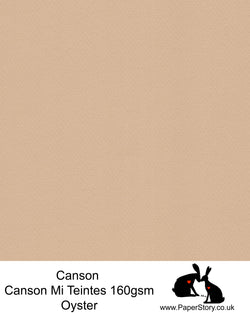 Canson Mi Teintes acid free, Oyster warm beige, hammered texture honeycomb surface paper 160 gsm. This is a popular and classic paper for all artists especially well respected for Pastel  and Papercutting made famous by Paper Panda. This paper has a honeycombed finish one side and fine grain the other. An authentic art paper, acid free with a  very high 50% cotton content. Canson Mi-Teintes complies with the ISO 9706 standard on permanence, a guarantee of excellent conservation