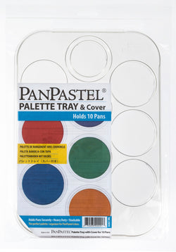 10 Palette Tray with Cover: The perfect palette & organizer for PanPastel Colours. Hold pans securely. Each palette includes a cover. Stackable so compact and easy to store. Measures 8 x 11.25 inches. 20 x 28.5cm. Palettes are sold empty. They do not include colours shown in pictures