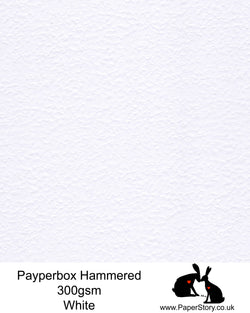 A4 Hammered white textured Card 300gsm, White heavy textured card one side, smooth the other. Ideal for card making, crafts and wedding stationery.  Acid free FSC approved
