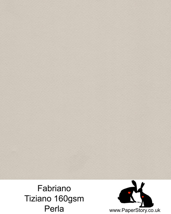High quality paper from Italy, Perla mid tone grey Fabriano Tiziano is 160 gsm, Tiziano has a high cotton content, a textured naturally sized surface. This paper is acid free to guarantee long permanence in time, pH neutral. It has highly lightfast colours, an excellent surface making and sizing which make this paper particularly suitable for papercutting, pastels, pencil, graphite, charcoal, tempera, air brush and watercolour techniques. Tiziano can be used for all printing techniques.