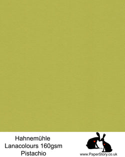 Hahnemühle Lana Colours pastel Pistachio green, hammered paper 160 gsm. Artist Premium Pastel and Papercutting Papers 160 gsm often described as hammered paper.