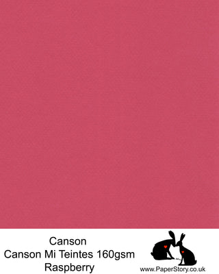 Canson Mi Teintes acid free, Raspberry red hammered texture honeycomb surface paper 160 gsm. This is a popular and classic paper for all artists especially well respected for Pastel  and Papercutting made famous by Paper Panda. This paper has a honeycombed finish one side and fine grain the other. An authentic art paper, acid free with a  very high 50% cotton content. Canson Mi-Teintes complies with the ISO 9706 standard on permanence, a guarantee of excellent conservation