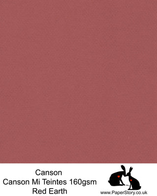 Canson Mi Teintes acid free, Red Earth, hammered texture honeycomb surface paper 160 gsm. This is a popular and classic paper for all artists especially well respected for Pastel  and Papercutting made famous by Paper Panda. This paper has a honeycombed finish one side and fine grain the other. An authentic art paper, acid free with a  very high 50% cotton content. Canson Mi-Teintes complies with the ISO 9706 standard on permanence, a guarantee of excellent conservation