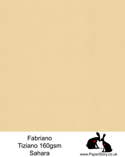 High quality paper from Italy, Sahara cream Fabriano Tiziano is 160 gsm, Tiziano has a high cotton content, a textured naturally sized surface. This paper is acid free to guarantee long permanence in time, pH neutral. It has highly lightfast colours, an excellent surface making and sizing which make this paper particularly suitable for papercutting