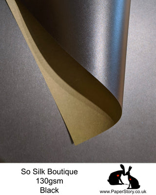 So Silk Boutique 130 gsm. Silky soft Papercutting and craft paper. With a Shimmering Pearlescent finish made with silk fibres, this is a perfect papercutting paper for beginners to experts. T
