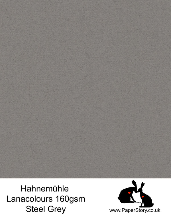 Hahnemühle Lana Colours pastel Steel Grey, beautiful hammered paper 160 gsm. Artist Premium Pastel and Papercutting Papers 160 gsm often described as hammered paper.