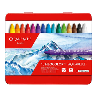 15 NEOCOLOR II Aquarelle Water-soluble assortment of 15 Classic Colours