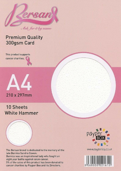 A4 Payperbox Hammer card 300 gsm : White