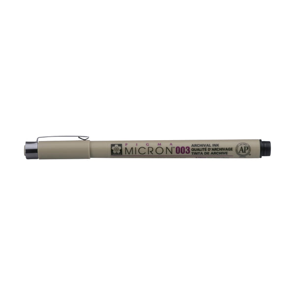 Pigma Micron Waterproof fine liner pen Black 003 : 0.15mm