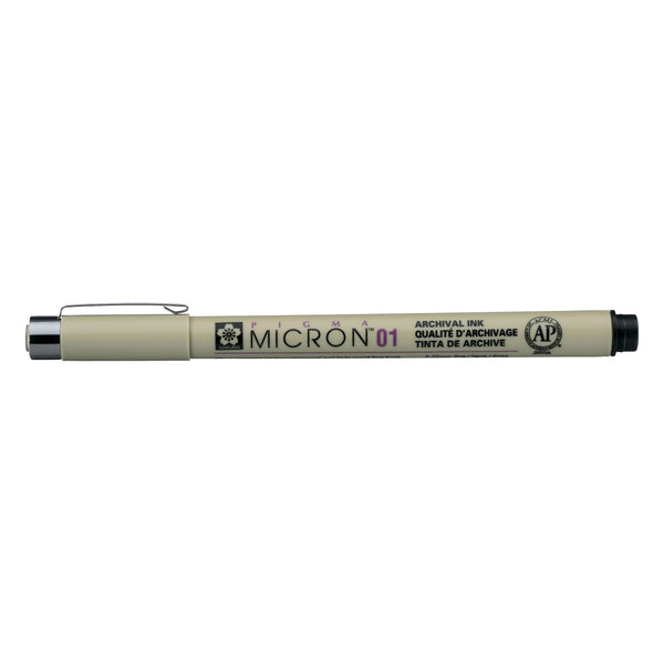Pigma Micron Waterproof fine liner pen Black 01 : 0.25mm