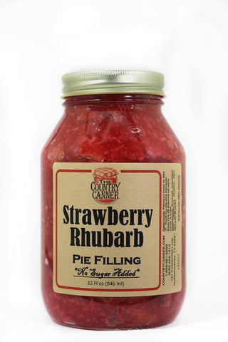 No Sugar Added Strawberry Rhubarb Pie Filling