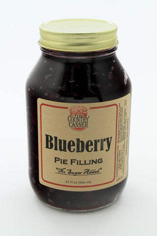 No Sugar Added Blueberry Pie Filling
