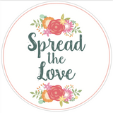 "Coral ""Spread the Love"" Lid Sticker (#10)"