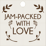 Jam Packed With Love Square Tag (#12)