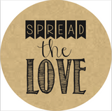 """Spread the Love"" Banner Lid Sticker (#2)"