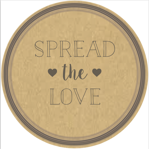 "Simple ""Spread the Love"" Lid Sticker (#18)"