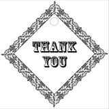 """Thank You"" Rustic Border Tag (#8)"