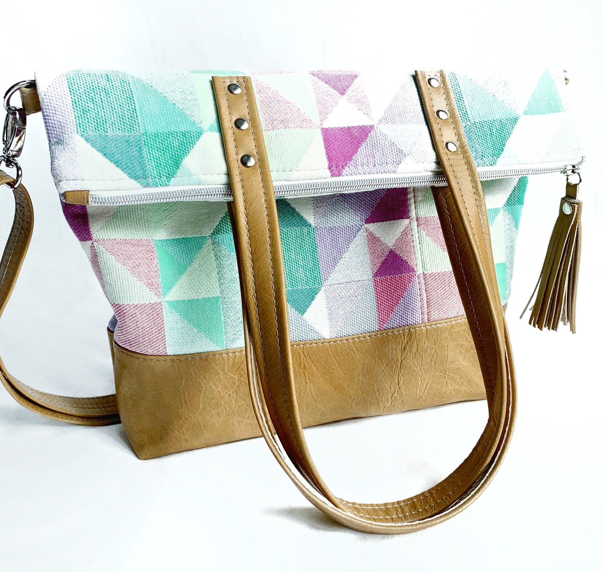 leather bag twofer tote by pia riley of iqueenie ankalia mako garden city wrap