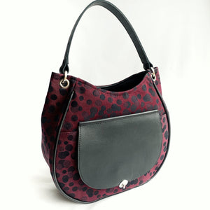 custom leather bag by pia riley of iqueenie ankalia lollie black cherry wrap