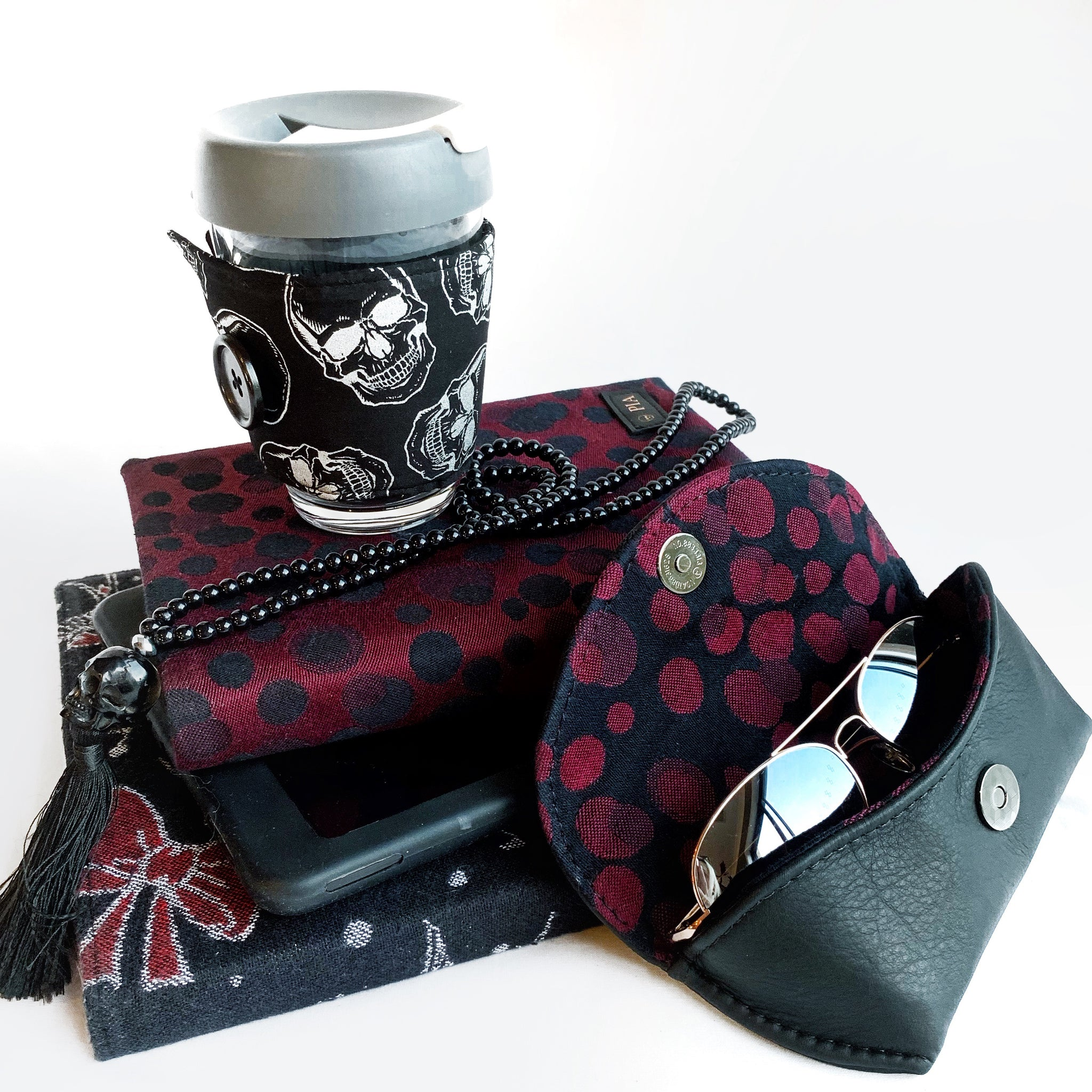 leather sunglasses case by pia riley of iqueenie ankalia lollie black cherry
