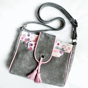 leather suede bag by pia riley of iqueenie ankalia lollie freckle wrap