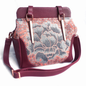 leather bag aster swoon by pia riley of iqueenie Moondani vintage rose gold
