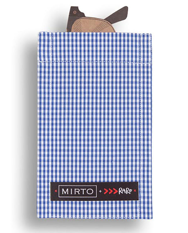 "Glass Pocket Square ""Vichy Boy"" by MIRTO"