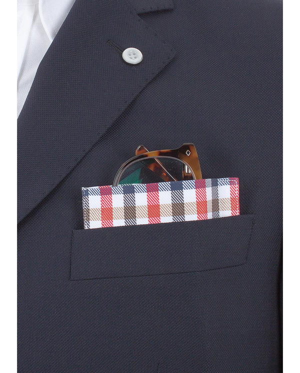 "Glass Pocket Square ""Madras Madrid"" by MIRTO"