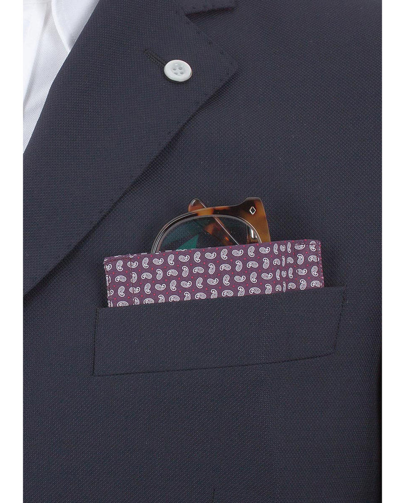 "Glass Pocket Square ""Paisley LSD"" by MIRTO"