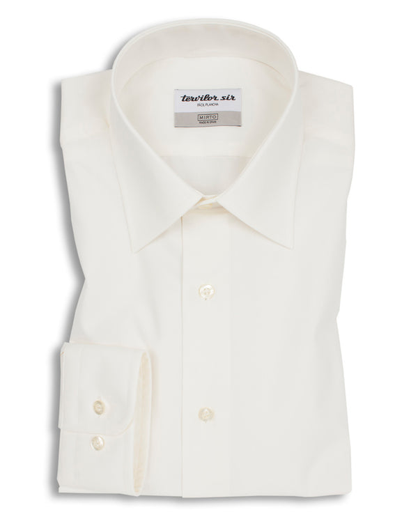 CREAM CLASSIC COLLAR TERVILOR SIR EXTRA SHORT by M