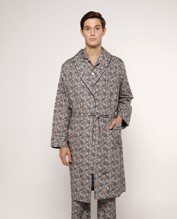 SAND PRINTED COTTON ROBE by MIRTO