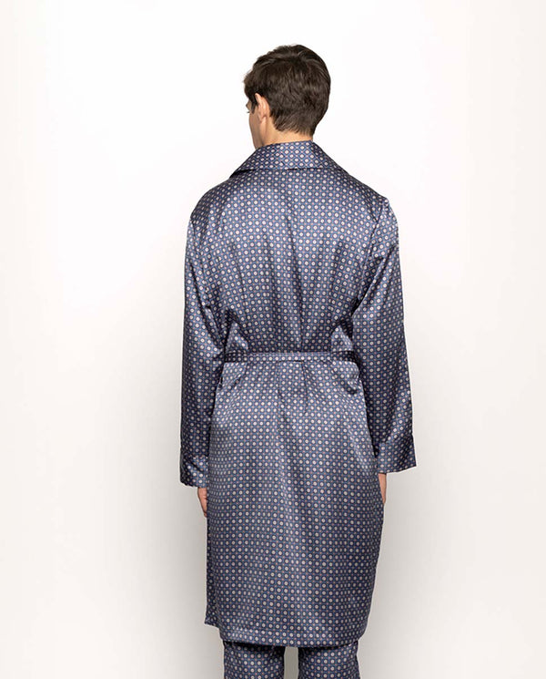 PRINTED SATIN ROBE