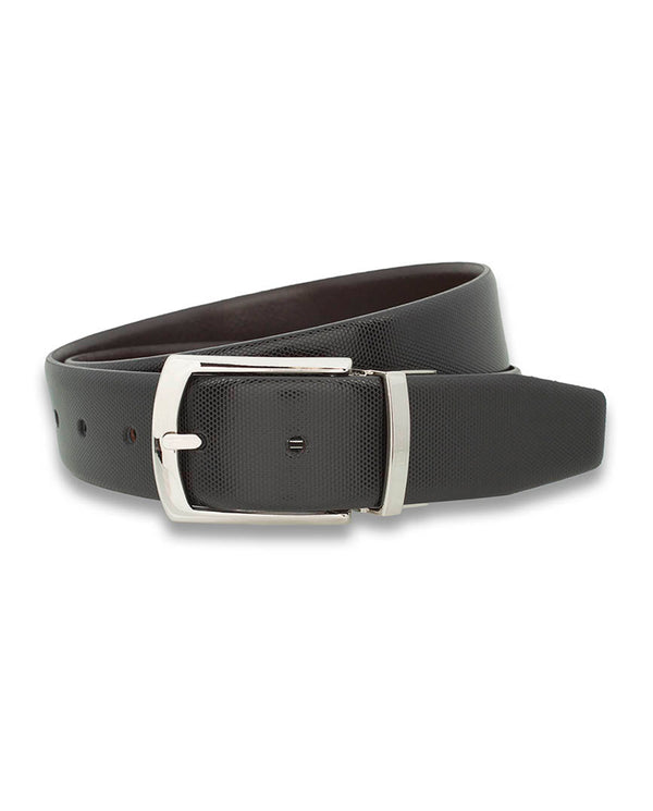 BROWN & BLACK REVERSIBLE LEATHER BELT