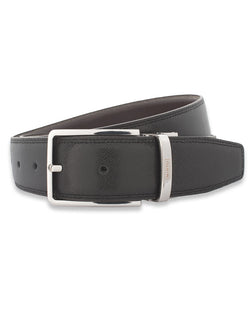 BLACK & BROWN REVERSIBLE LEATHER BELT by MIRTO