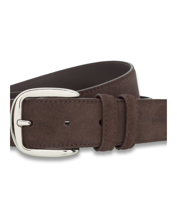 BROWN CASUAL SUEDE BELT by MIRTO