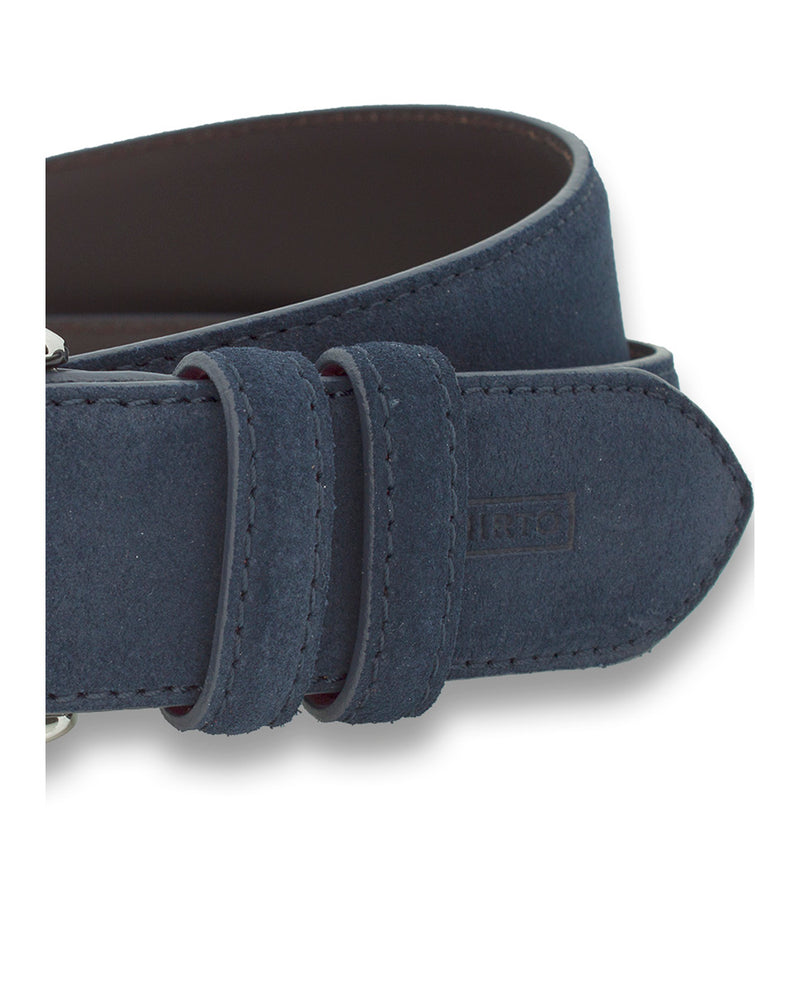 NAVY CASUAL SUEDE BELT by MIRTO